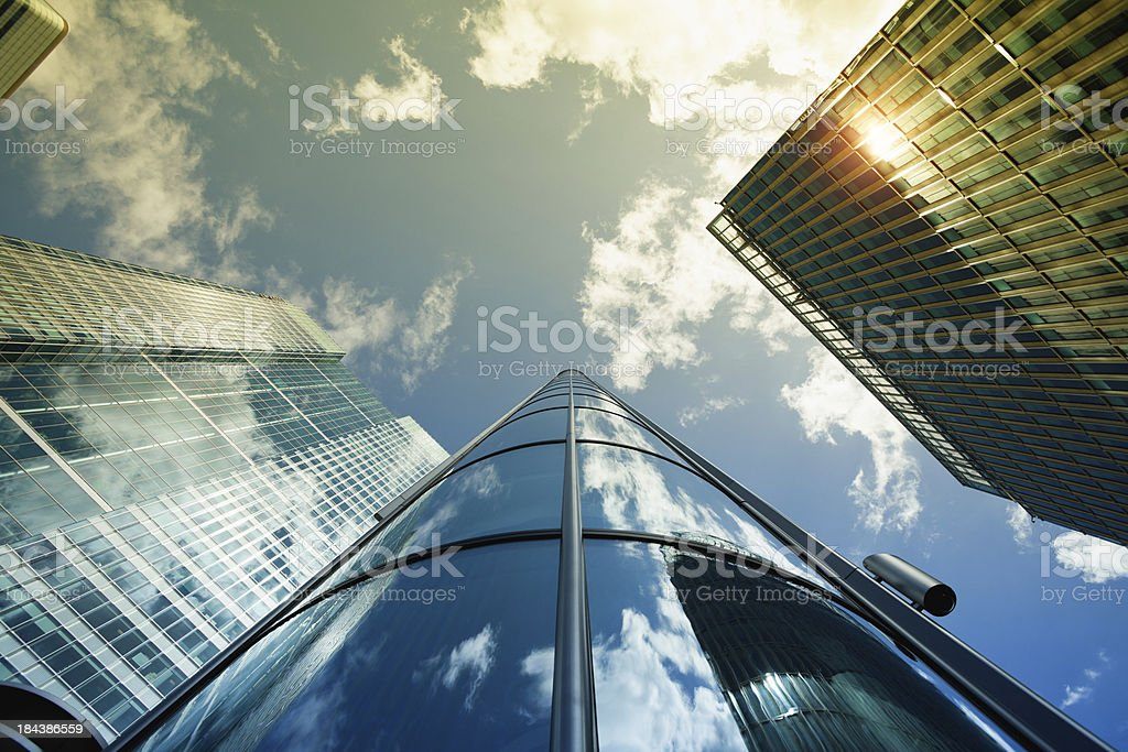 The Financial District, Canary Wharf, London royalty-free stock photo