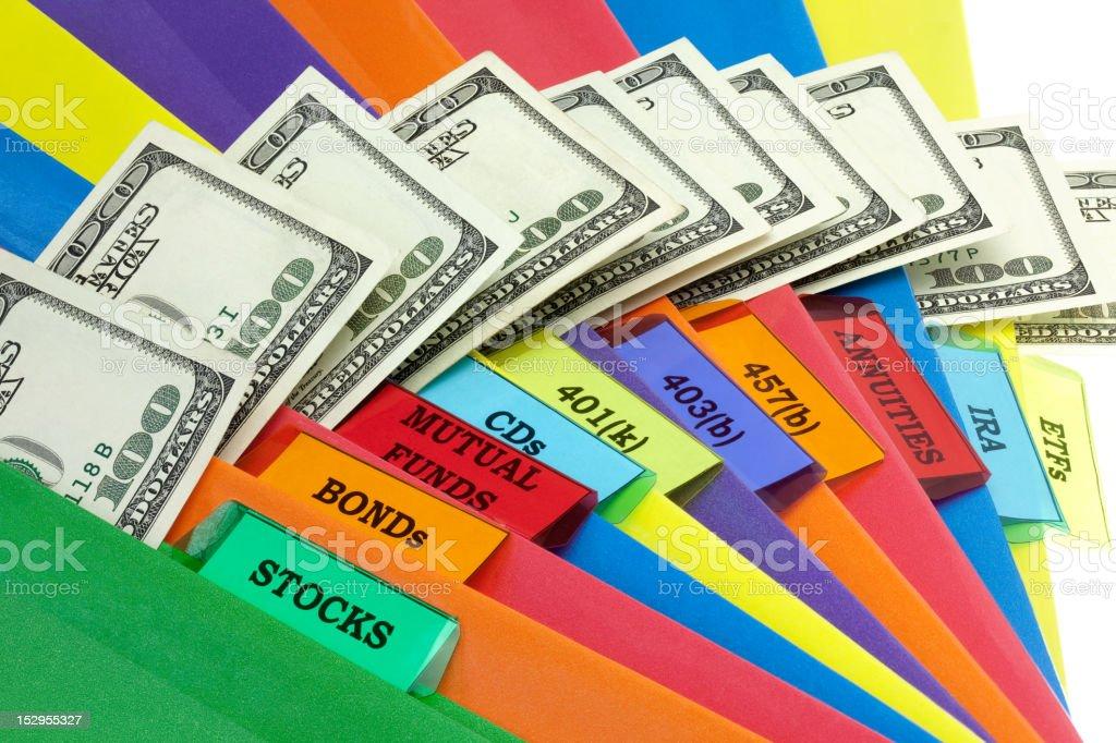 The Financial Portfolio royalty-free stock photo