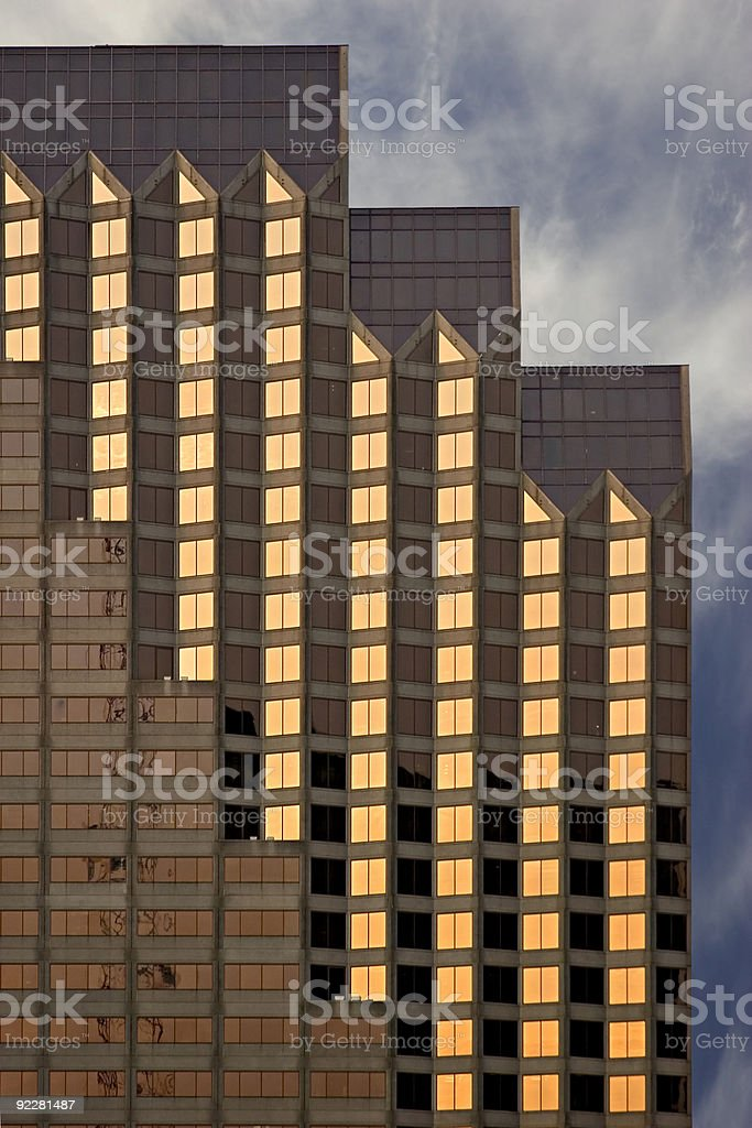 The Finest in Architecture Pure Gold. royalty-free stock photo