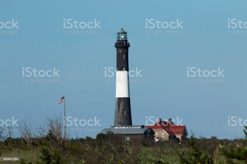 The Fire Island Lighthouse stock photo