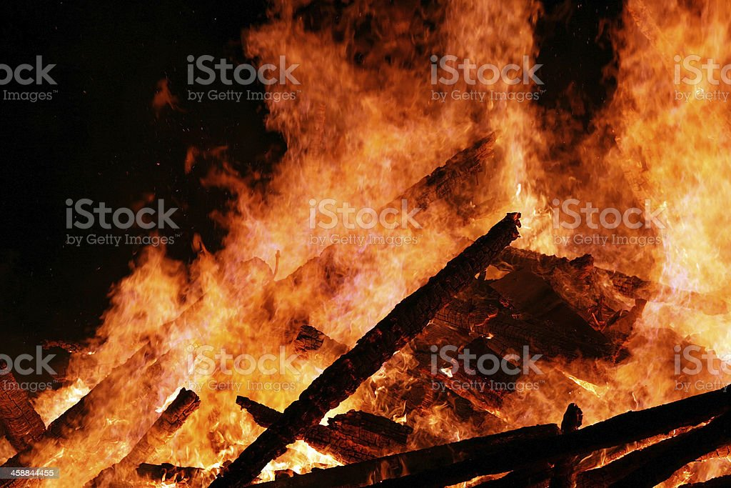 The fire royalty-free stock photo