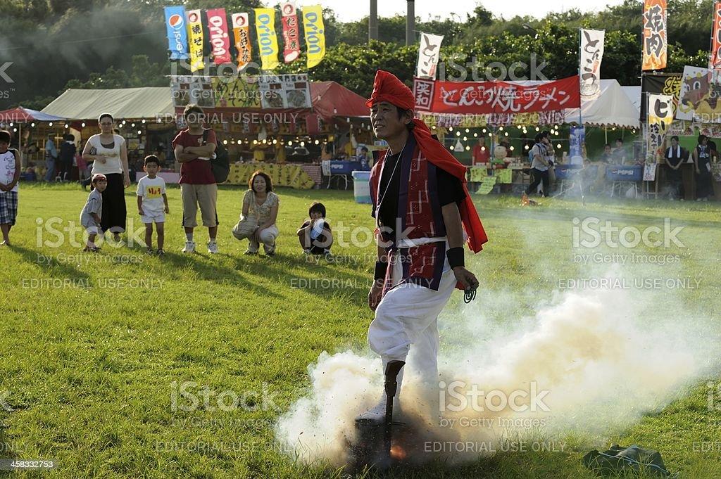 The Firecracker Man royalty-free stock photo