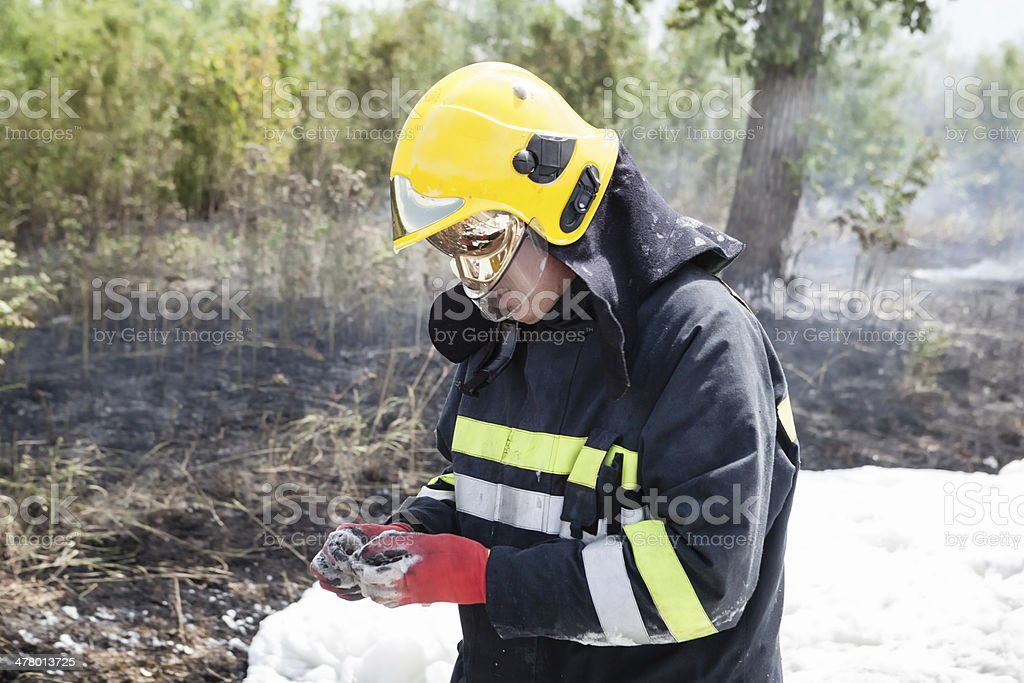 The Firefighter royalty-free stock photo