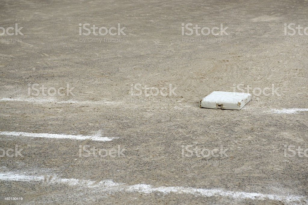 The First Base Line royalty-free stock photo