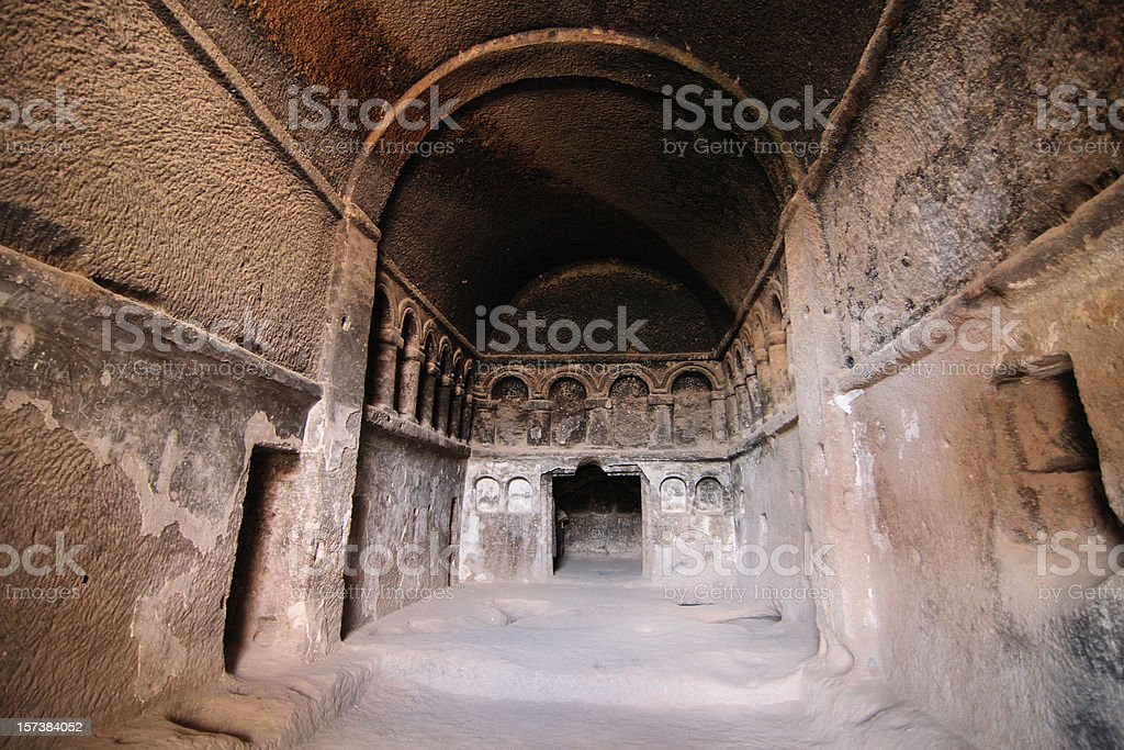 The first cathedral (Cappadocia) stock photo