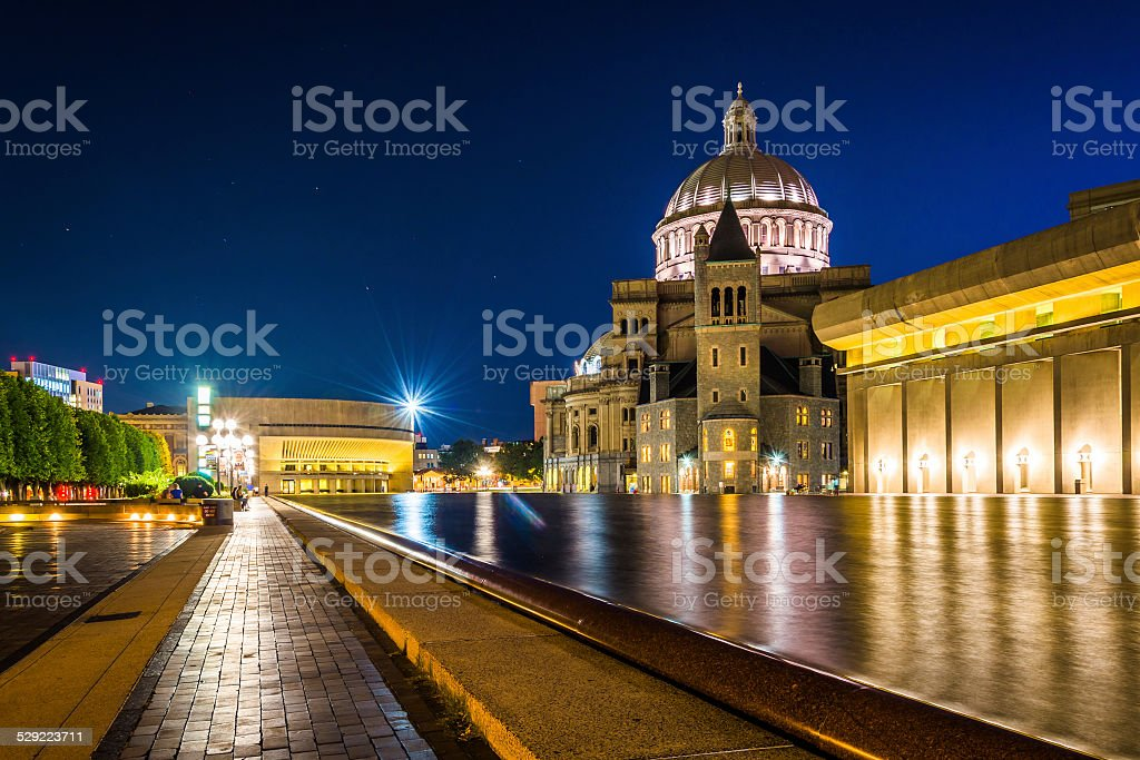 The First Church of Christ, Scientist at Christian Science Plaza stock photo