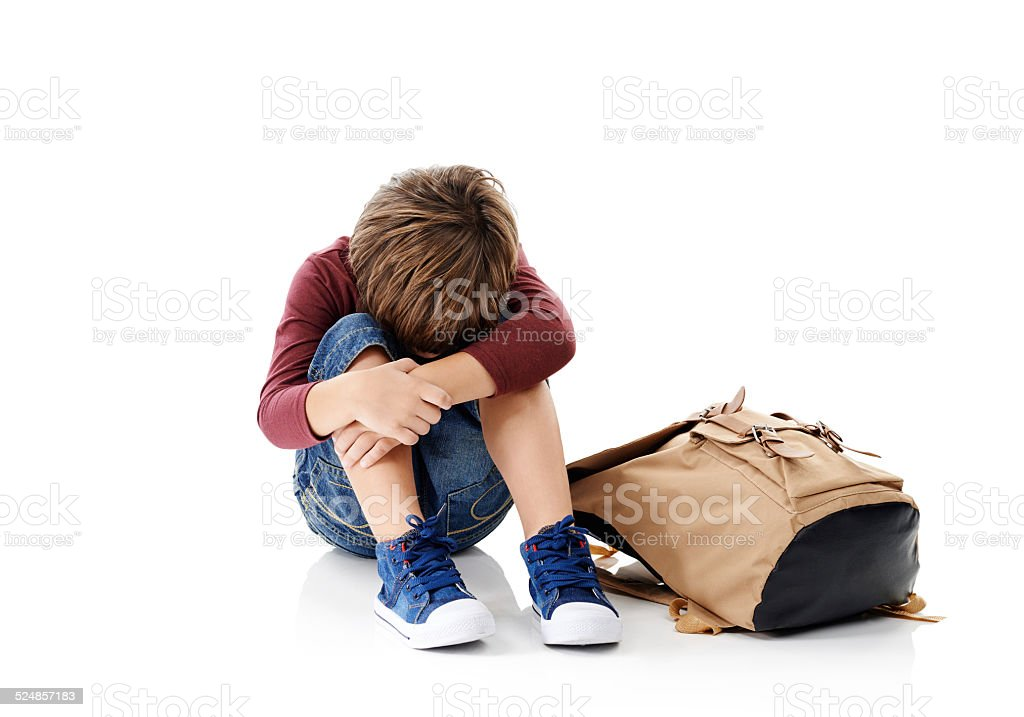 The first day of school can be challenging stock photo