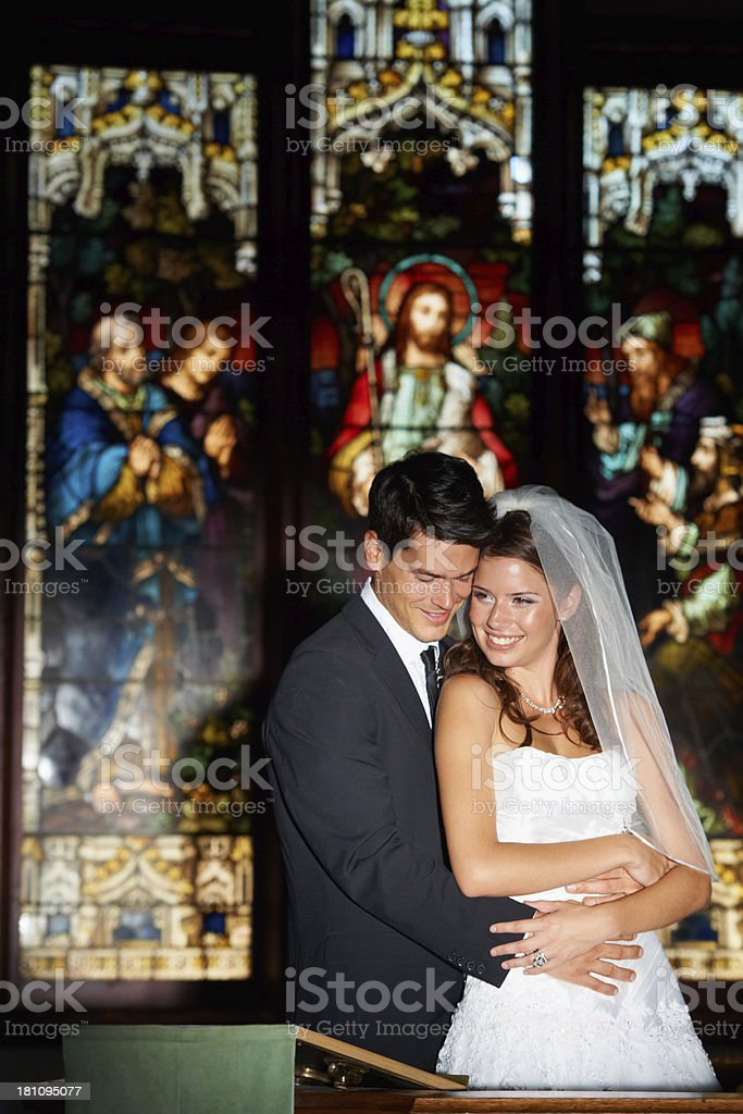 The first embrace of man royalty-free stock photo