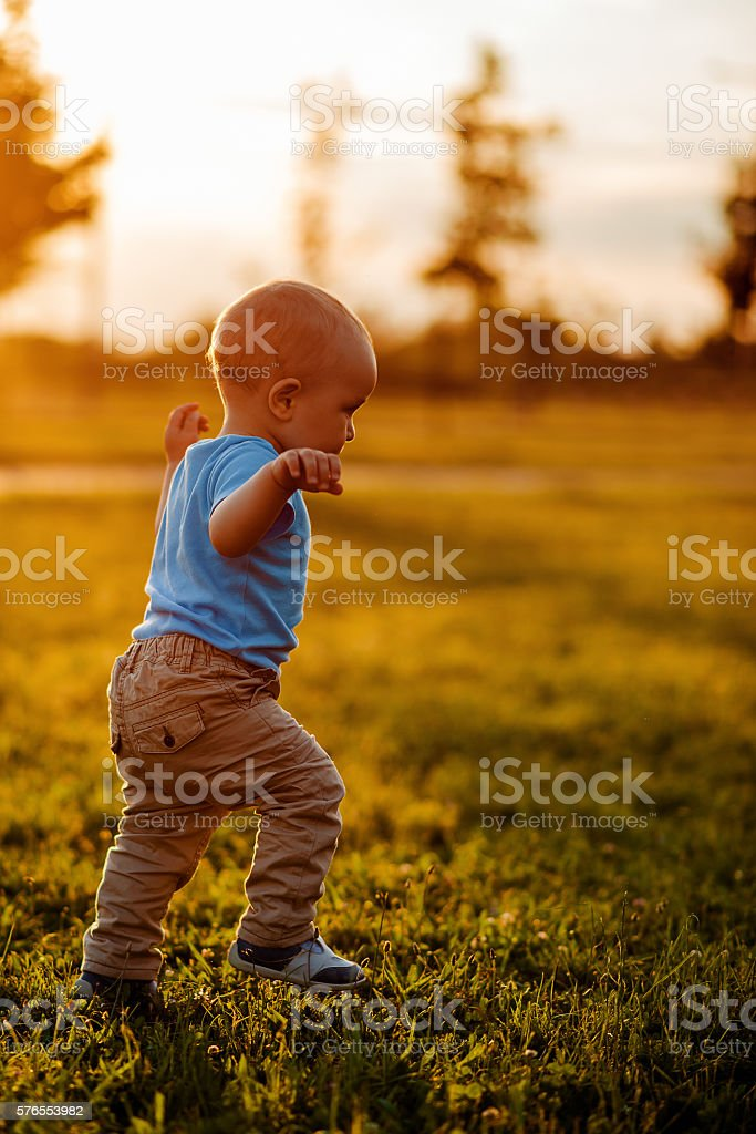 The first independent steps stock photo