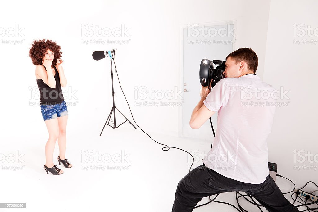 The first photoshoot royalty-free stock photo