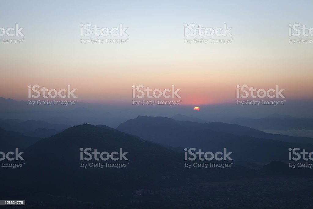 The first rays of 2014. stock photo