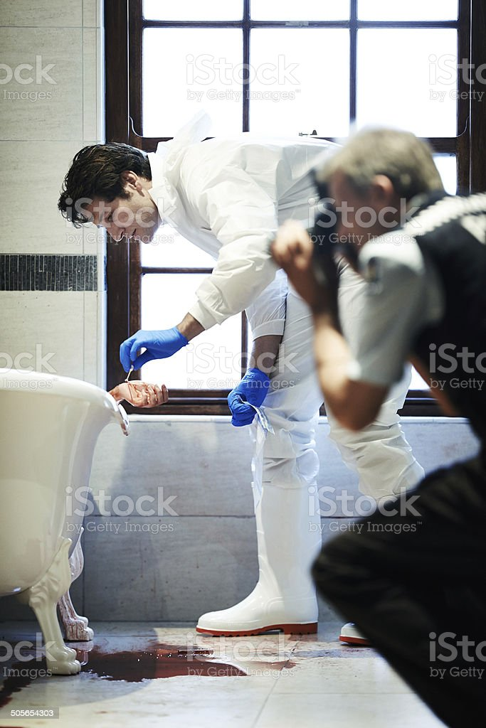 The first step in catching the culprits stock photo