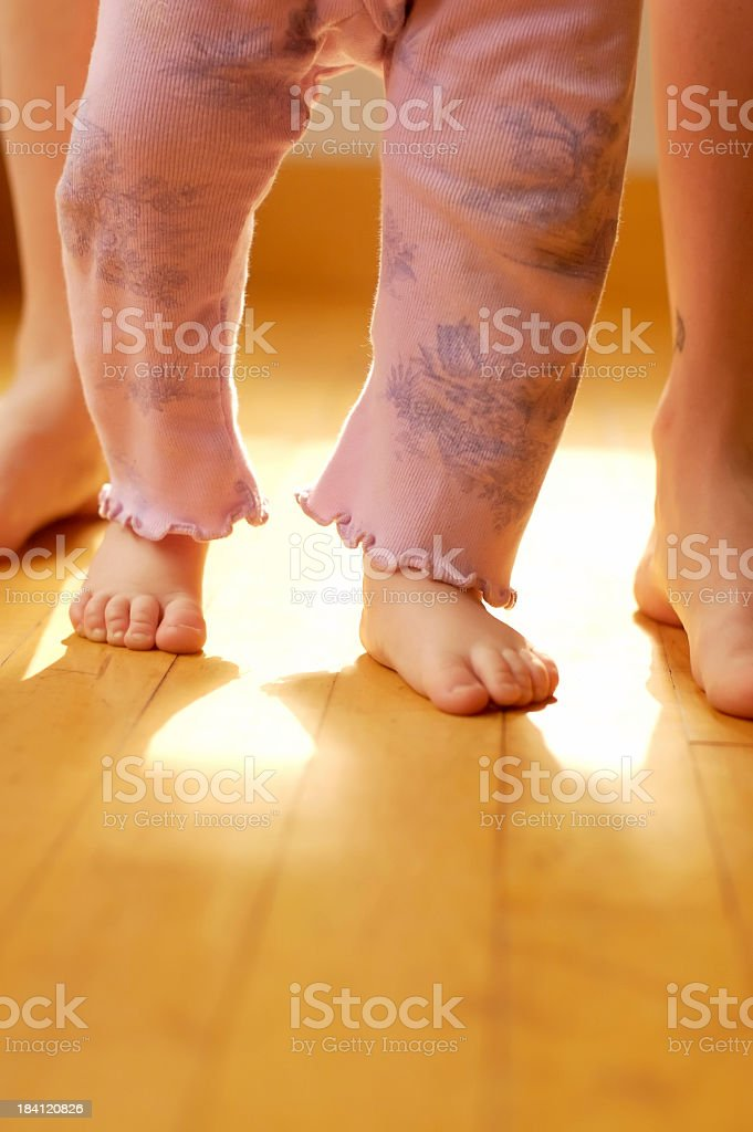 The first steps of our babies are simply magnificent stock photo