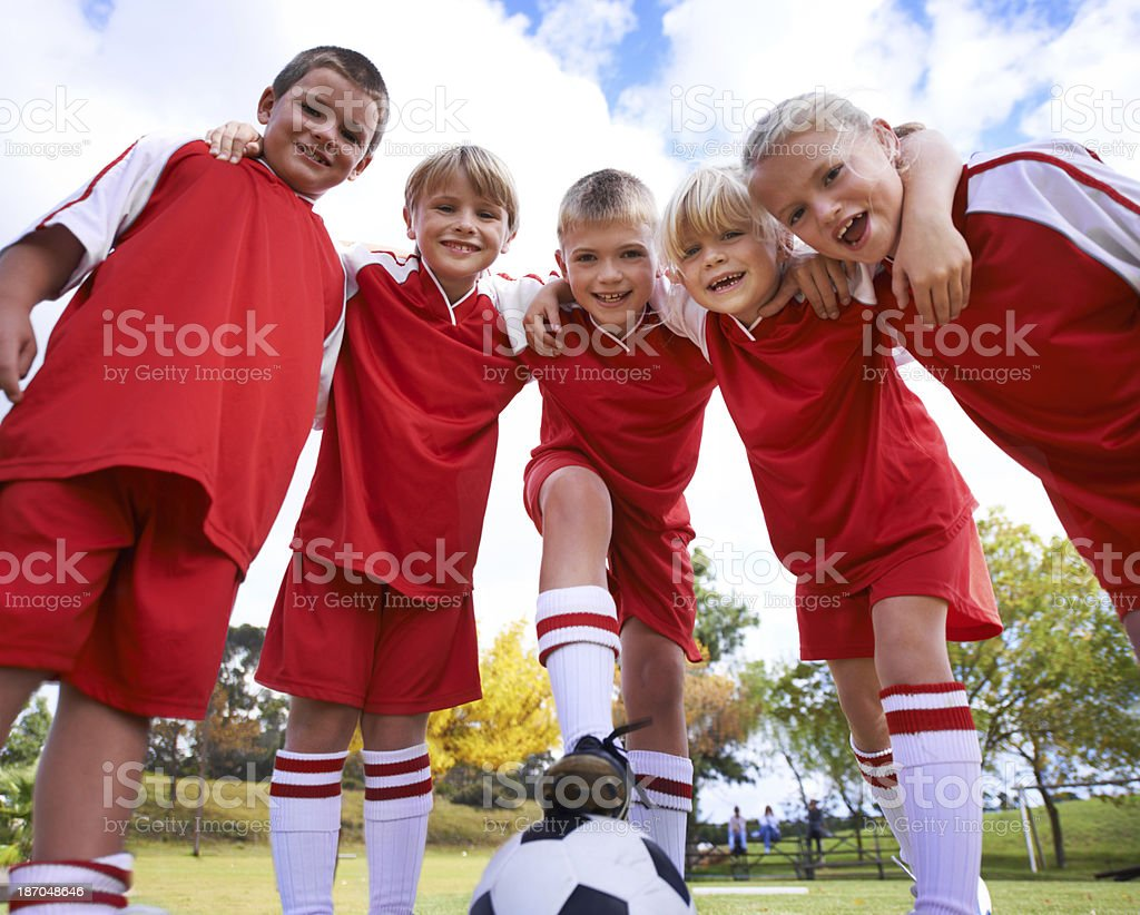 The first team royalty-free stock photo