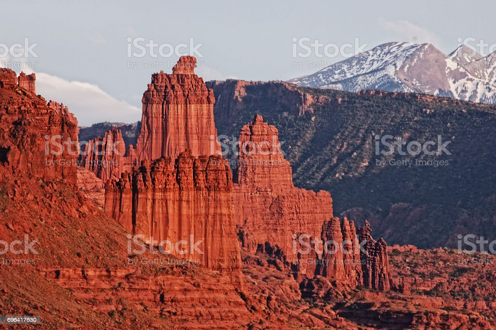 The Fisher Towers stock photo