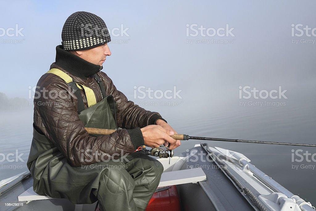 The fisherman royalty-free stock photo