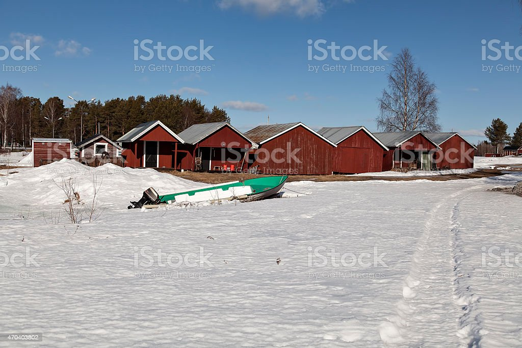 the fishing camp royalty-free stock photo