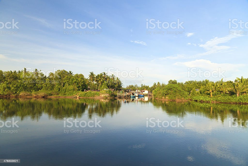 The fishing village royalty-free stock photo