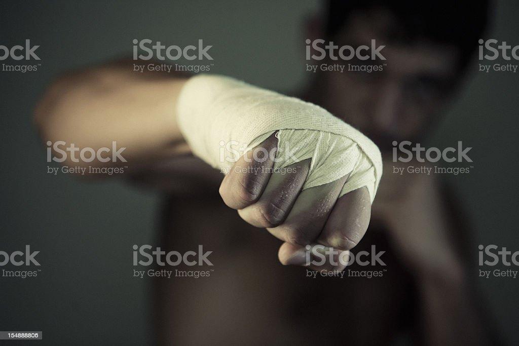 the fist of pugilist stock photo
