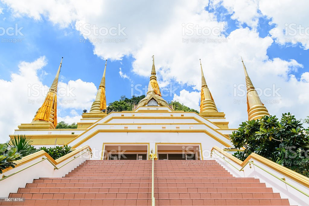 The five golden pagoda stock photo