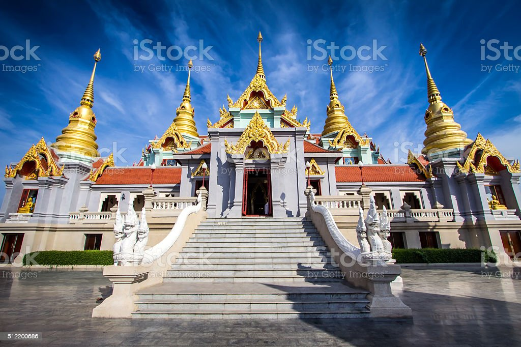 The five pinnacle Temple stock photo
