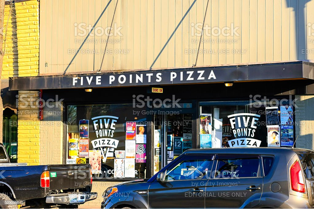 The Five Points Pizza restaurant in East Nashville stock photo