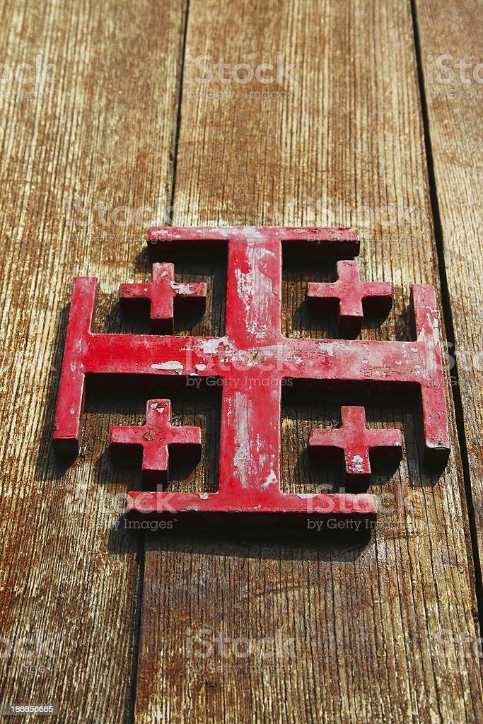 The five-cross stock photo