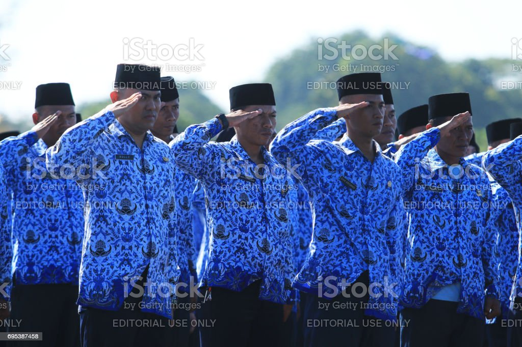 The flag ceremony commemorating the 71th anniversary of the Air Force. stock photo
