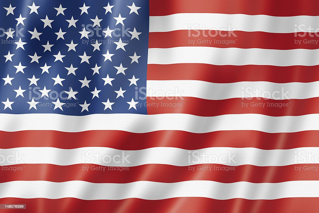 The flag for The United States of America  stock photo