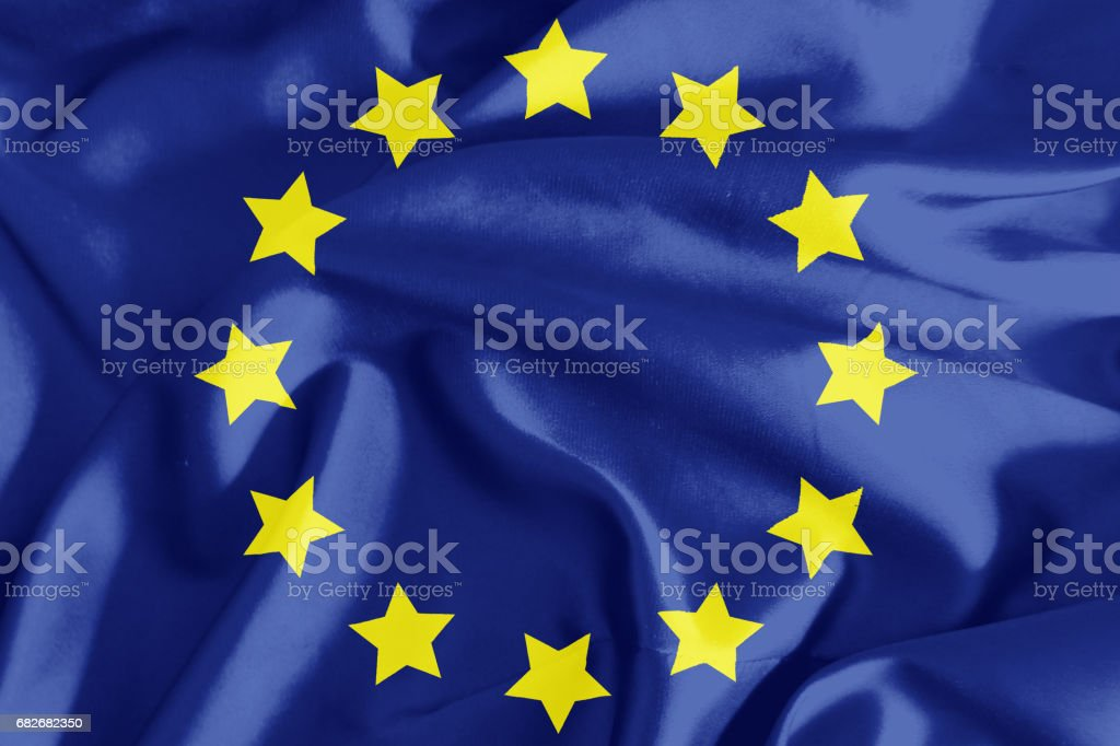 The flag of Europe stock photo