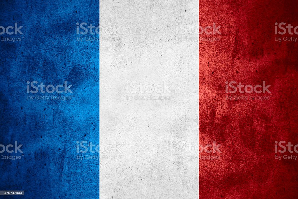 The flag of France in bold colors stock photo