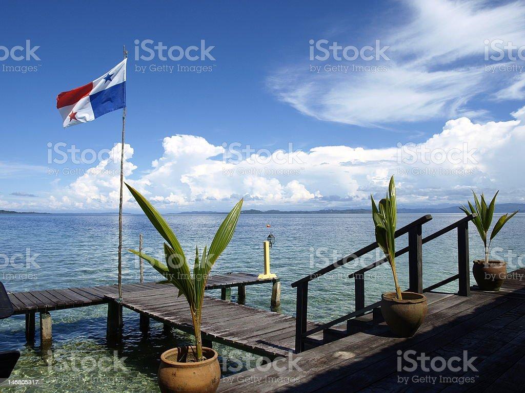 The Flag of Panama stock photo