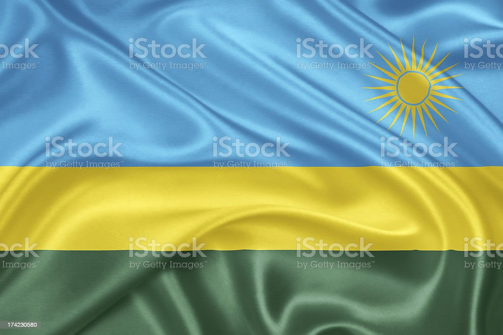 The flag of Rwanda stock photo
