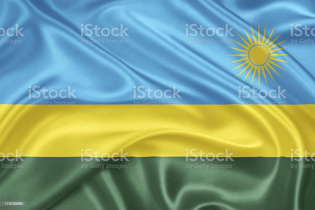 The flag of Rwanda stock photo