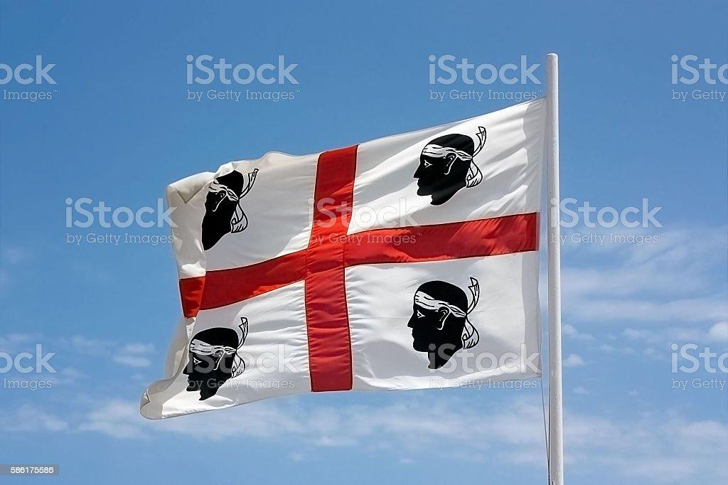 The flag of Sardinia. stock photo