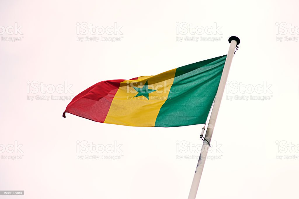 The flag of Senegal stock photo