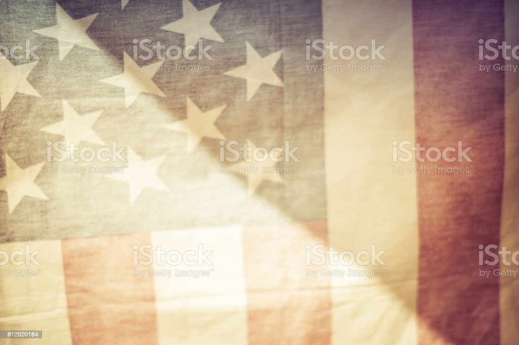 The flag of the United States. stock photo