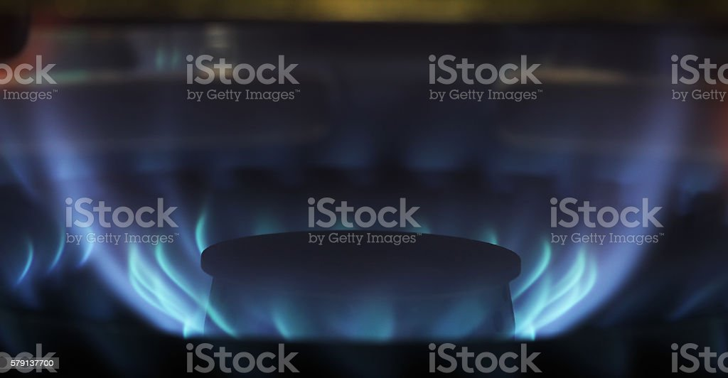 The flame of the blue stock photo