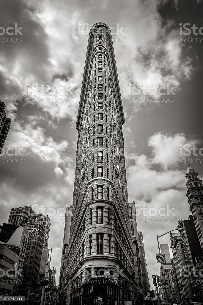 The Flatiron Building in Manhattan stock photo