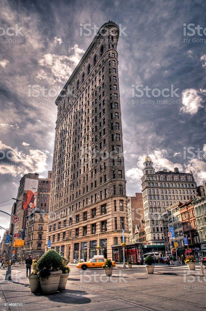 The Flatiron Building, New York City stock photo