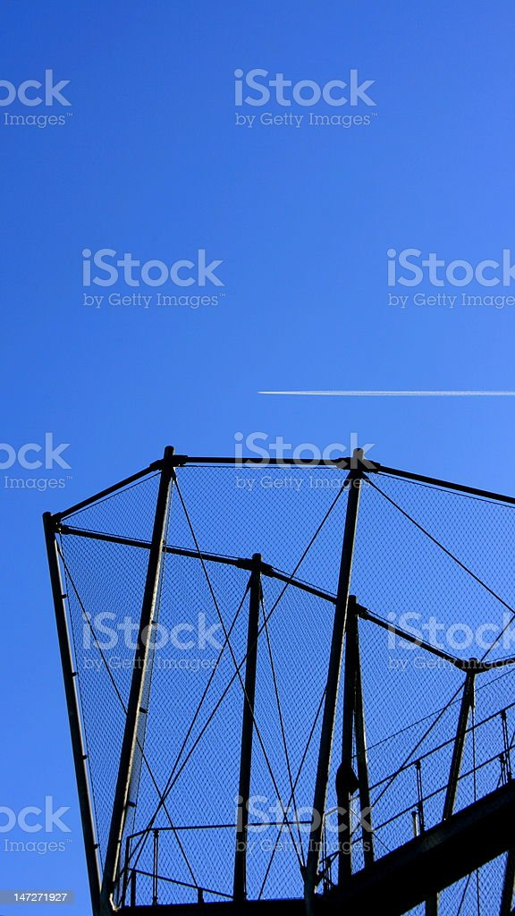 The flight over construction royalty-free stock photo