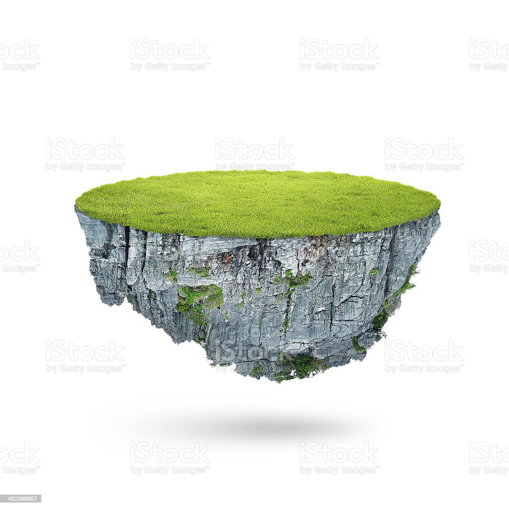 The floating island stock photo