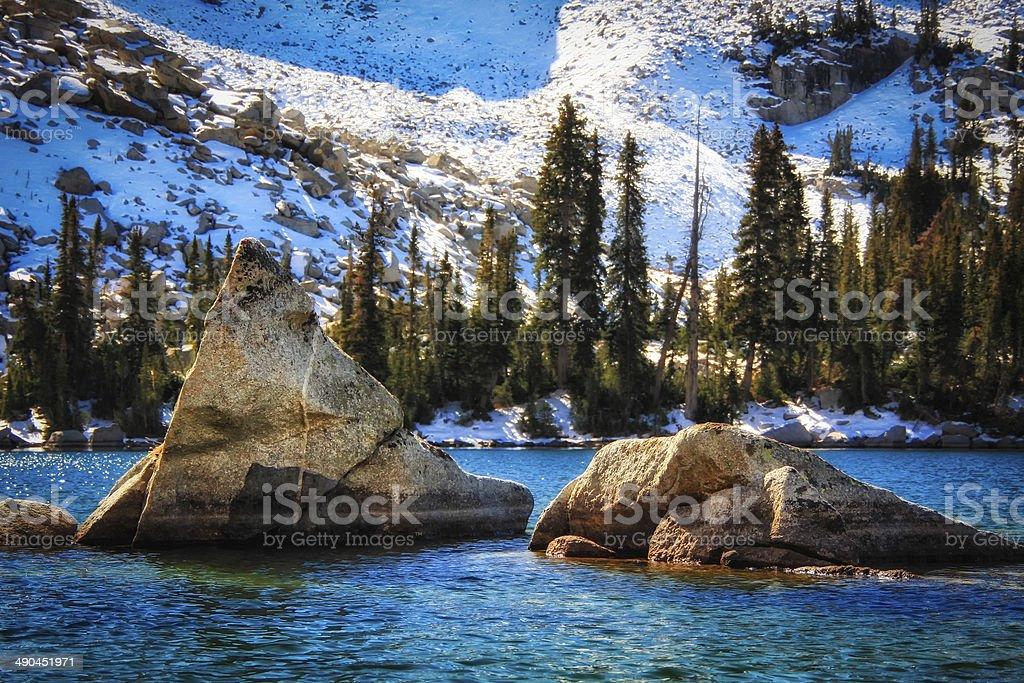 The Floating Rocks stock photo