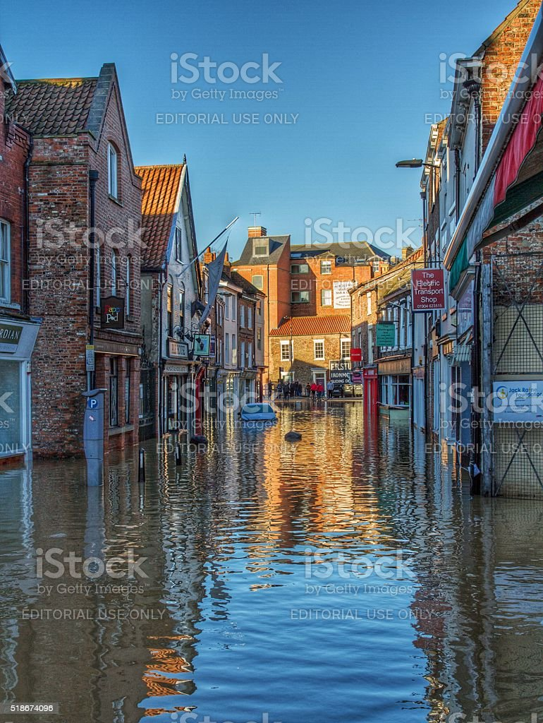 The Flooded Streets Of York stock photo