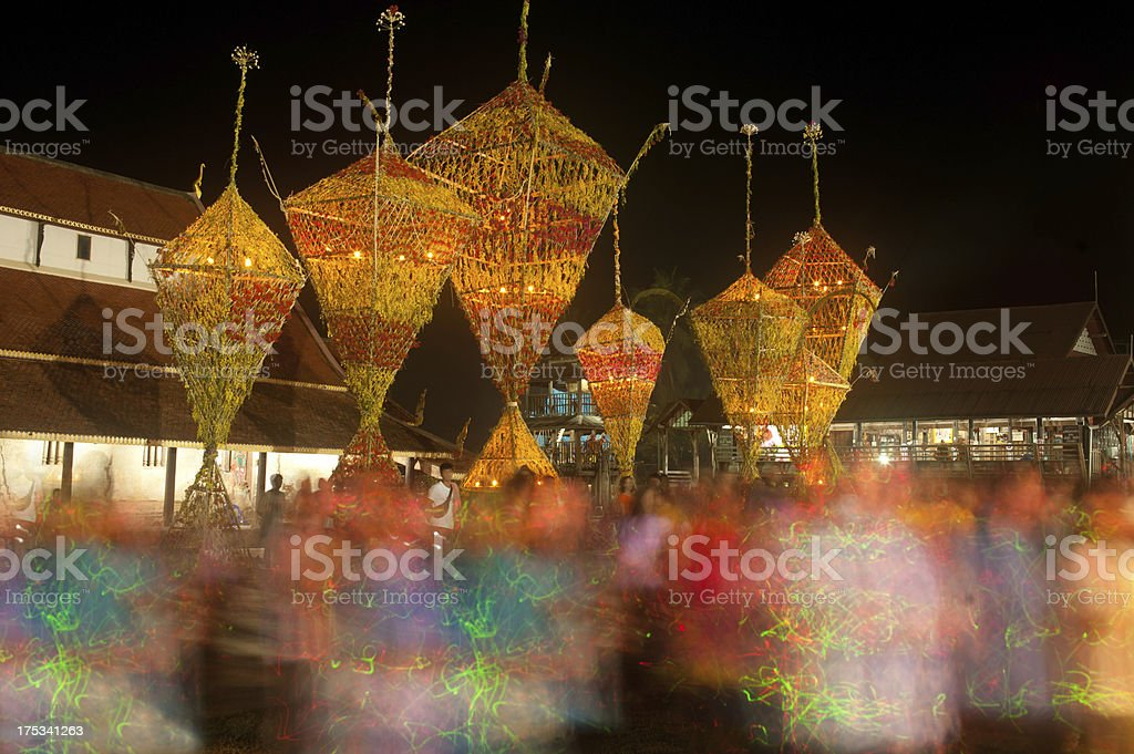 The floral parade worship Buddhism. royalty-free stock photo