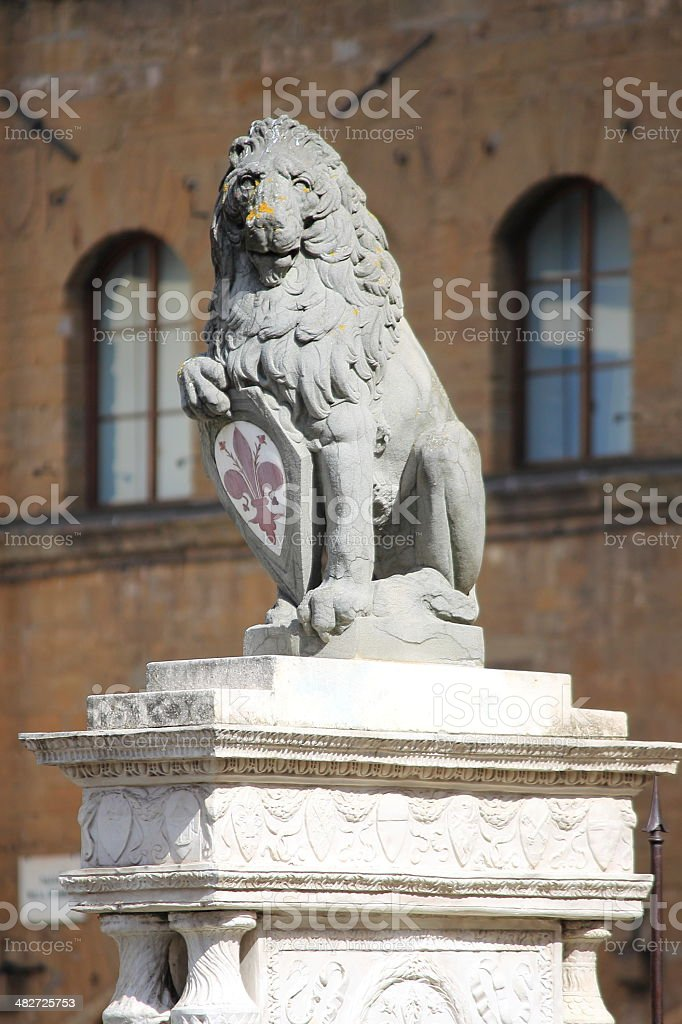 The Florentine lion stock photo