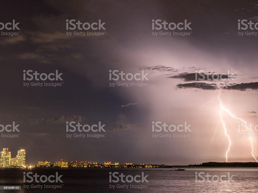 The Florida Lightning Storm stock photo