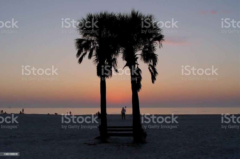 The Florida Sunset. royalty-free stock photo