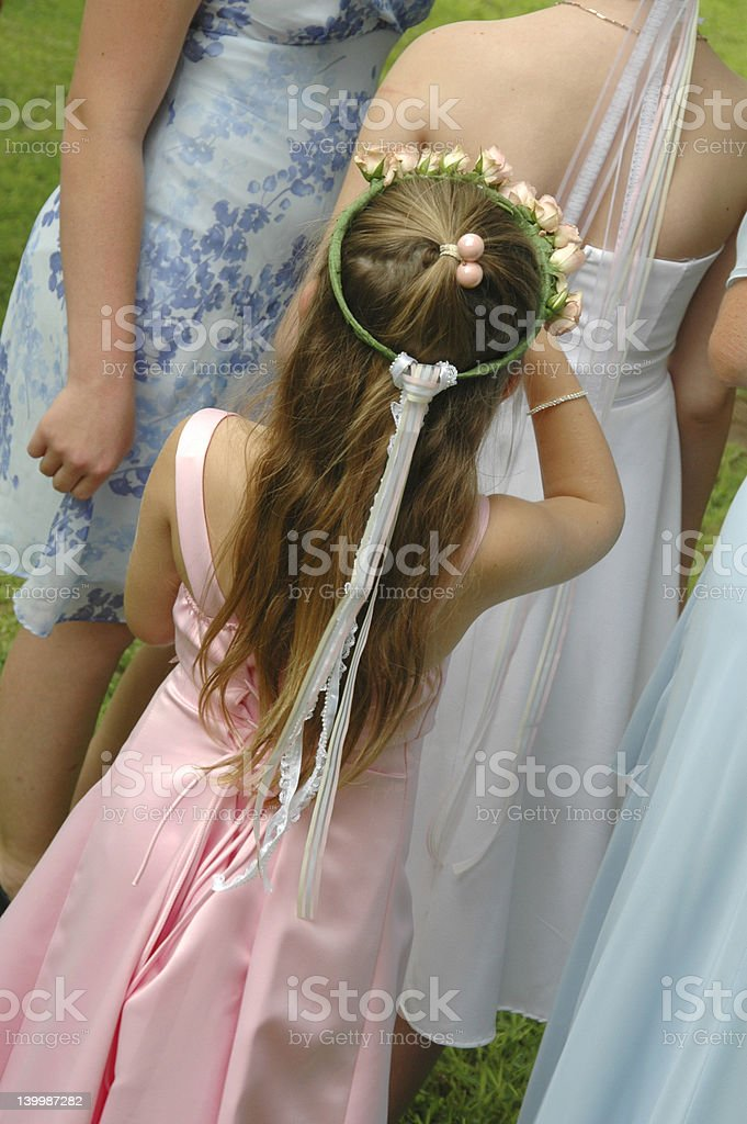 The Flower Girl stock photo