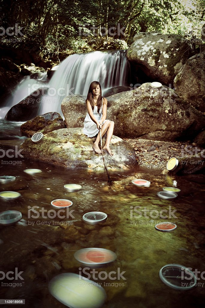 The flowing of time royalty-free stock photo